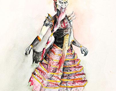 'The Firebird' Costume Designs for Centralia Ballet