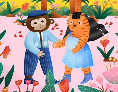 The Wedding of Tiger and Monkey