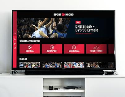 Sport Noord TV app design