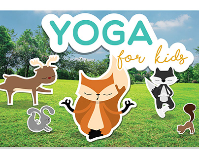 Yoga for kids - Character Design