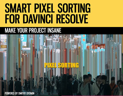 Smart Pixel Sorting for DaVinci Resolve