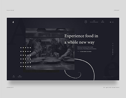 Restaurant André - Website HERO concept