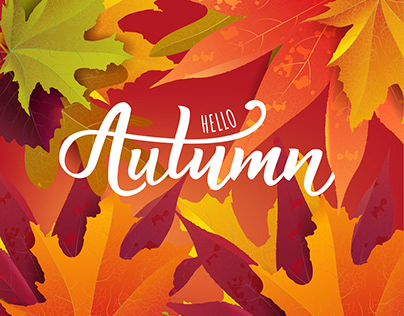 Autumn lettering collection