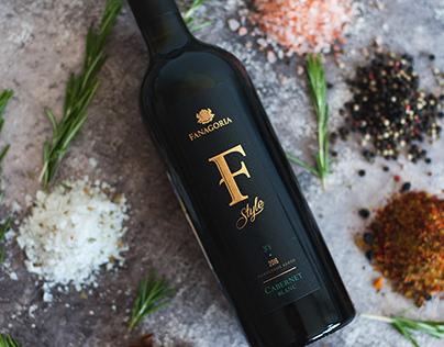 Дизайн этикетки для вина F-Style TM Fanagoria