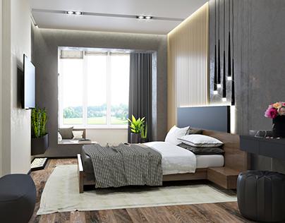 bedroom. Apartment in Kiev