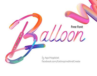 Free Balloon Display Font