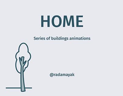 Cozy buildings animation