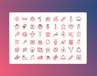 Festive icon set