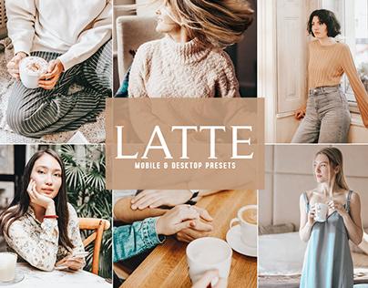 Free Latte Mobile & Desktop Lightroom Presets