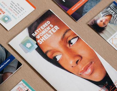 Battered Women's Shelter Brochures & Street Cards