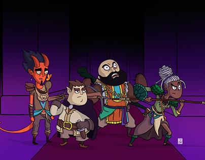 Ilustração - Personagens de D&D
