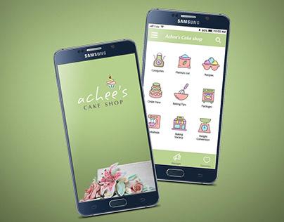 Achee's Cake Shop   App Design