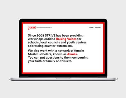 Str!ve Women — Website, 2015