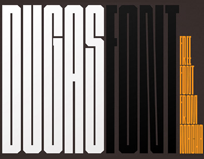 DUGAS - FREE ULTRA CONDENSED FONT