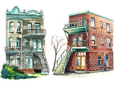Watercolor Architeture