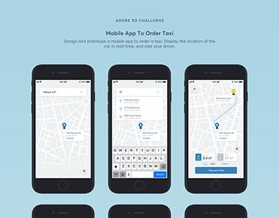 Adobe XD Creative Challenge - Taxi App