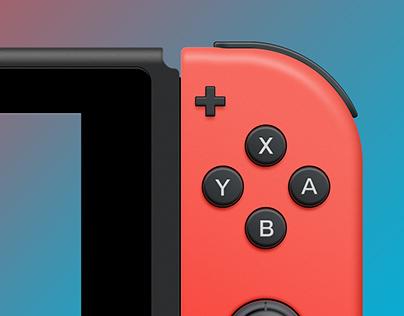 Nintendo Switch PSD Freebie