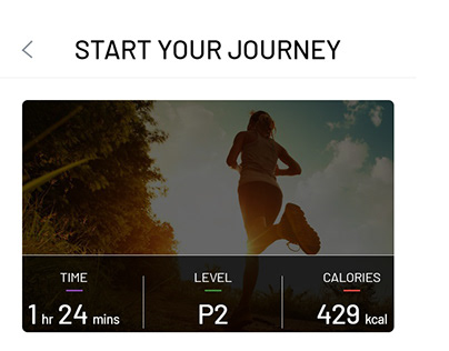 Excercise Mobile App Design