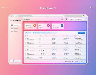 Apple Dashboard Financial Services Concept