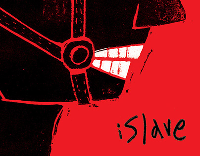 iSlave - Poster - Linocut