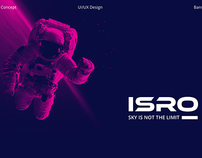 Space website- ISRO redesign concept