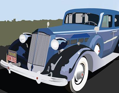 1937 Car Illustration
