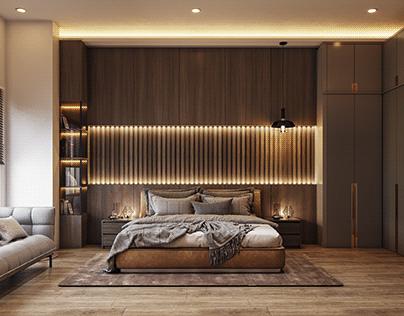 Interior Kamar Tidur Modern Kontemporer ~ Jakarta Timur