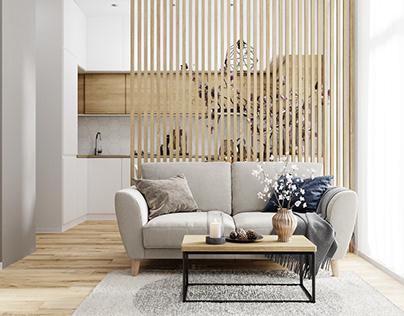 Smart apartment 34 sq.m.
