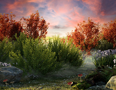 Fantasy on the theme of a fairy glade.