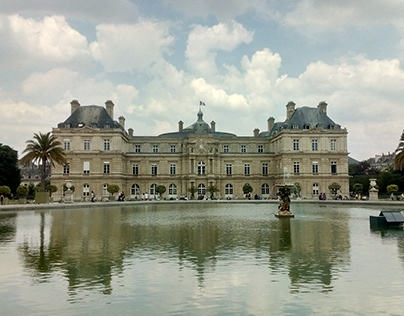 Photo from famous Luxembourg gardens Palace in Latin Qu