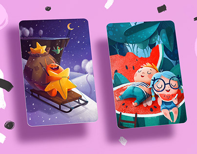 20 illustrations for a cards (2018)