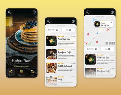 Breakfast Finder App UI Design