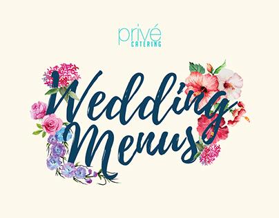Privé Catering Wedding Menu