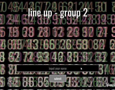 Line Up!   An Interactive-Collective Game
