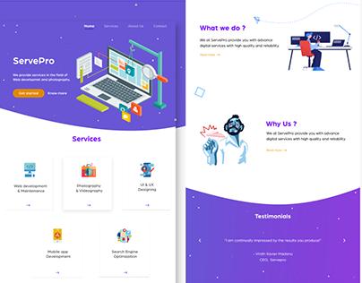 ServePro-Landing page