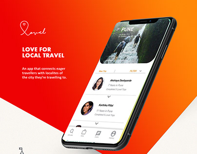 UI UX- An app for connecting Travellers and Localites.