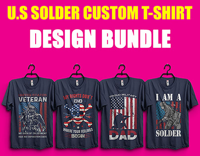 US Army Soldiers Military T-Shirt Design Bundle