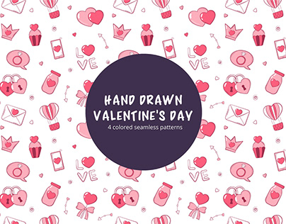 Free Vector Valentines Day Pattern