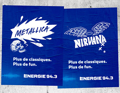 Énergie 94.3 radio campaign - Illustration, design