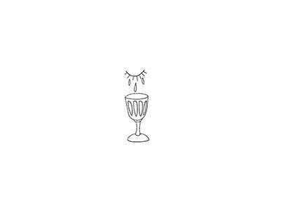 Minimalist poem illustrations