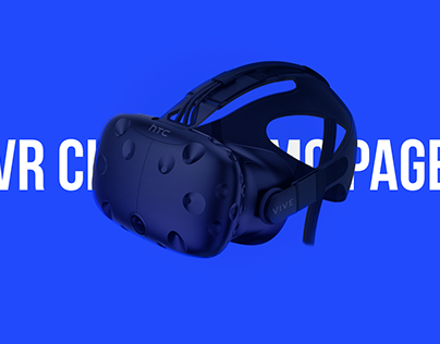 VR Gaming Promo page