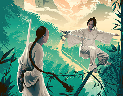 Crouching Tiger, Hidden Dragon screen print