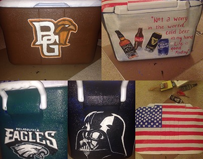 Hand Painted Coolers