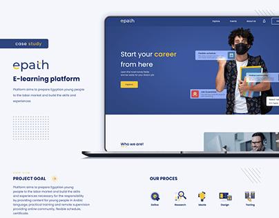 Epath E-learning platform UI/UX case study