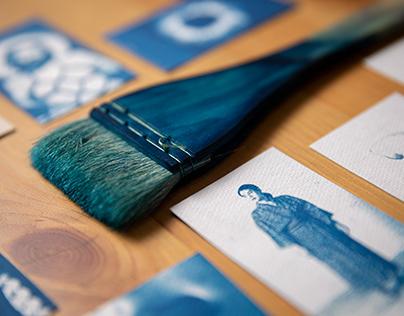Cyanotype name cards design