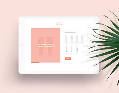 Avène Hydrance:: product web questionnaire