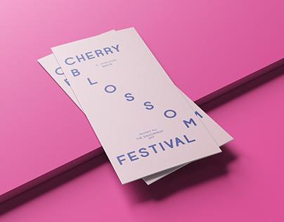 Cherry Blossom Festival - Print design