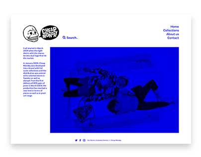 Cheap Monday | Website Refonte