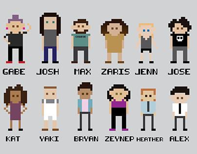 8-Bit Character Design (Friends)