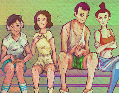 Four People by the Pool (2019)